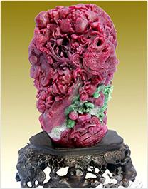 红宝石雕刻工艺